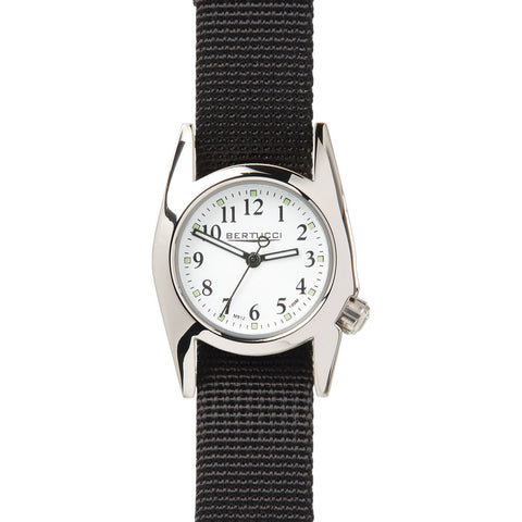 Bertucci M-1T Women's Highpolish White Watch | Black Nylon 18017