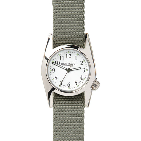 Bertucci M-1T Women's Highpolish White Watch | Defender Drab Nylon 18018