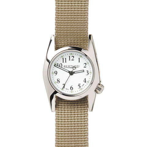 Bertucci M-1T Women's Highpolish White Watch | Defender Khaki Nylon 18019