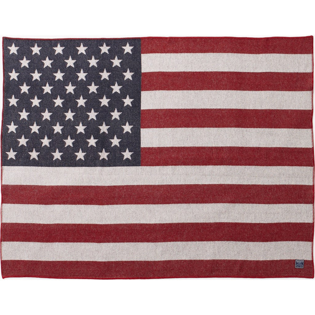 Faribault American Heritage Flag Wool Throw | Classic 1862 50x72