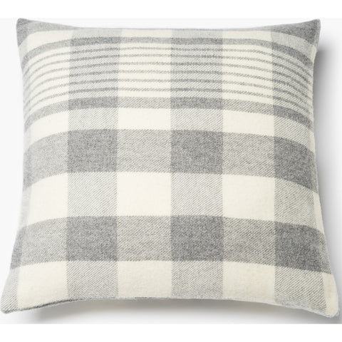 Faribault Plaid Pillowcase | Gray/Natural 17122 20x20