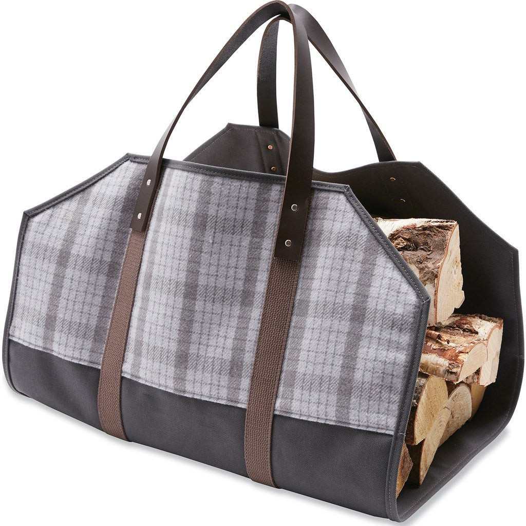 Faribault Hastings Plaid Log Carrier | Silver 19454 27.5x21