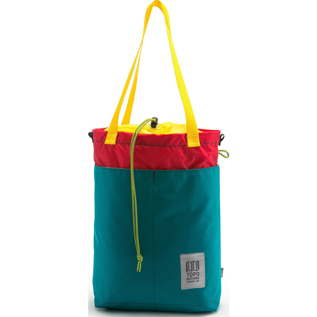 Topo Designs Cinch Tote Bag | Turquoise/Red