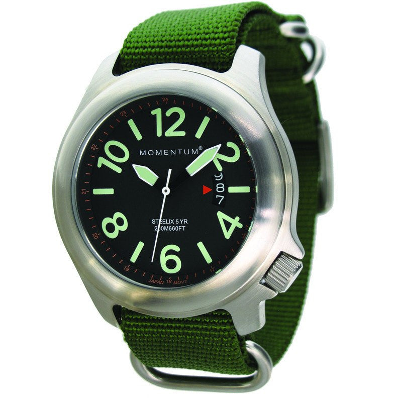 Momentum Steelix Field Watch | Black/Green