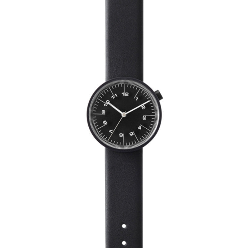 Nendo Mens Draftsman 01. Scale Watch | Black/Black