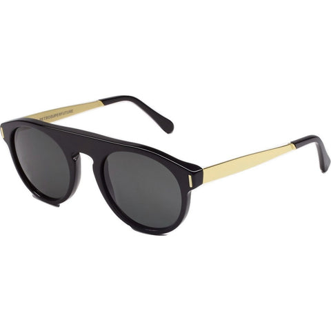RetroSuperFuture Racer Sunglasses | Francis Black Gold 3XC