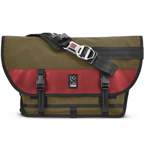Chrome Citizen Messenger Bag | Olive/Red