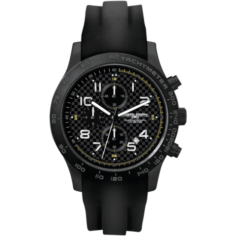 Jorg Gray JG2000-13 Black Chronograph Men's Watch | Rubber