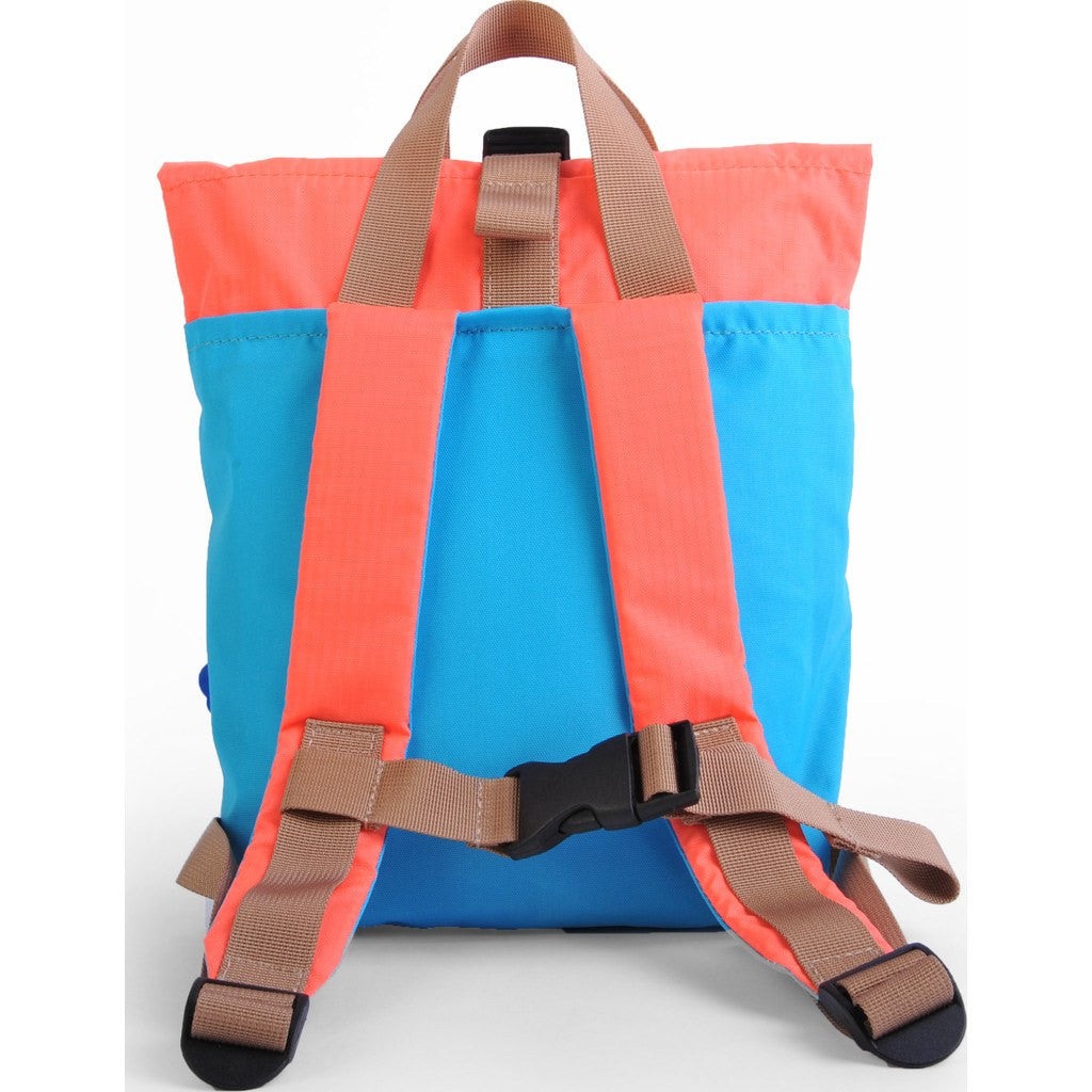 Hellolulu Kid's Jazper Rolltop Backpack | Sky Blue/Orange HLL-20001-SKY
