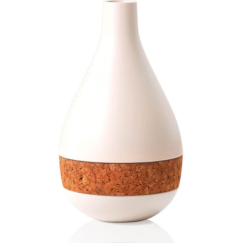 Aesthetic Content Horizon Ceramic & Cork Vase | White 2000104