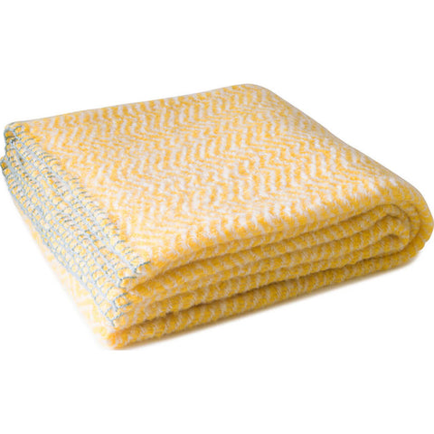 Aesthetic Content Luminous Mohair Wool Blend Throw | Sunshine/Cream/Gray 2000109