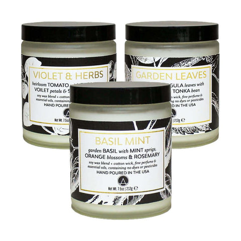 ACDC Candle Co. Set of 3 Scented Soy Jar Candle | Fresh Herbs 2000450