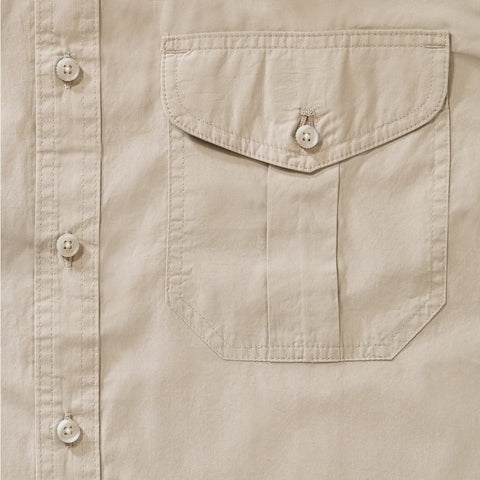Filson Filson's Short Sleeve Feather Cloth Shirt | Desert Tan 20008229 L
