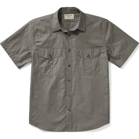 Filson Filson's Short Sleeve Feather Cloth Shirt | Light Olive 20008229 L