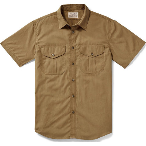 Filson Filson's Short Sleeve Feather Cloth Shirt | Rugged Tan 20008229 L