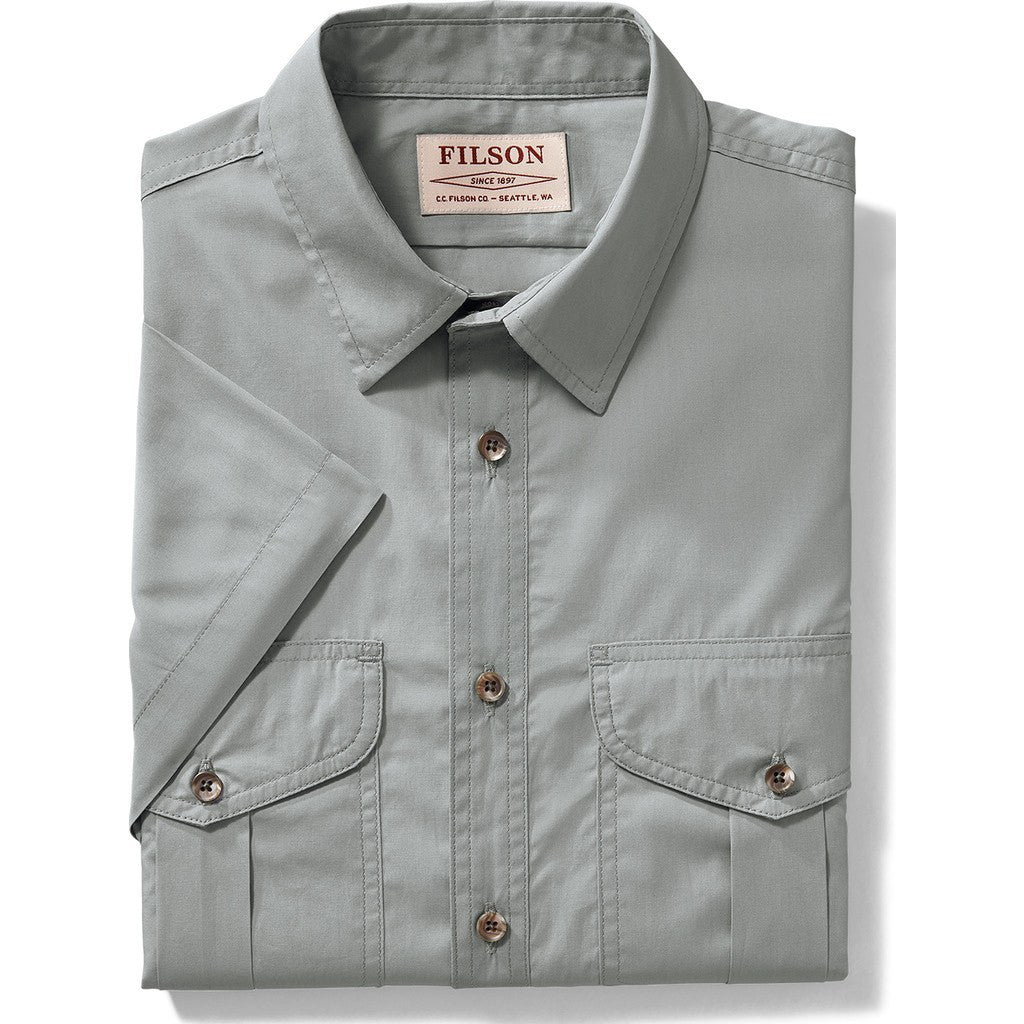 0af89ac188ffd Filson Men s Feather Cloth Short Sleeve Shirt - Sportique
