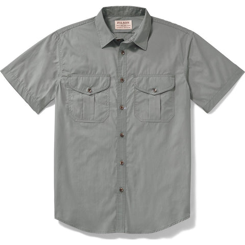 Filson Filson's Short Sleeve Feather Cloth Shirt | Smoke Blue 20008229 L