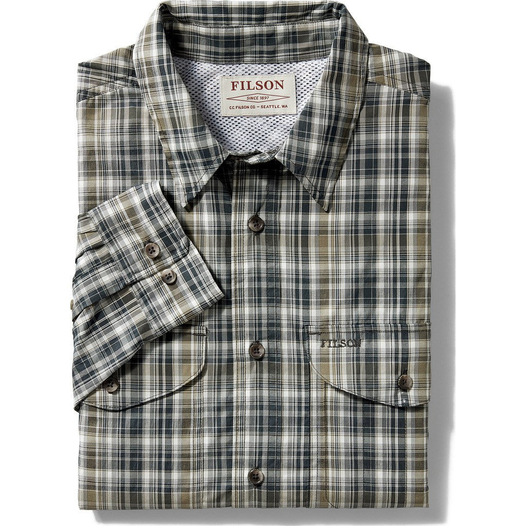 Filson Twin Lakes Sports Shirt | Navy/White/Olive Plaid 20008231 M