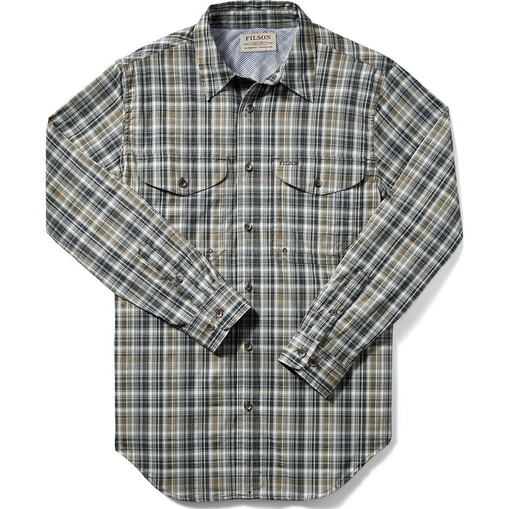 Filson Twin Lakes Sports Shirt | Navy/White/Olive Plaid 20008231 S