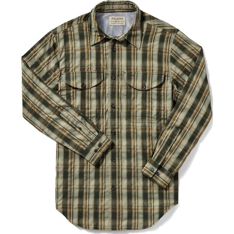 Filson Twin Lakes Sports Shirt | Green/Tan/Gold Plaid 20008232 L