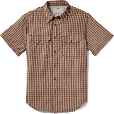 Filson Twin Lakes Short Sleeve Sport Shirt | Brick/Tan Plaid 20009879 L