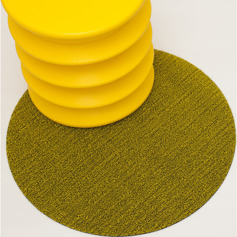 Chilewich Solid Shag Dots 24 | Citron - 200387-005