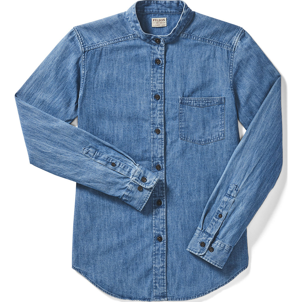 991f57845 ... Filson Women s Cotton Denim Shirt