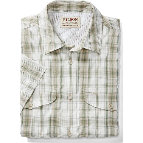 Filson Twin Lakes Sport Short Sleeve | Cream/Khaki/Green- 20060828CrmKhkiGrn--XS