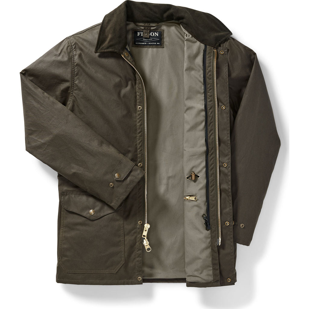 Filson Men's Cover Cloth Mile Marker Coat - Otter Green