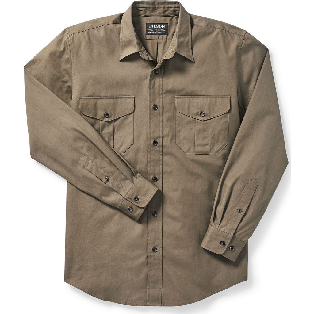 Filson 100% Cotton Men's Long Sleeve Safari Cloth Shirt