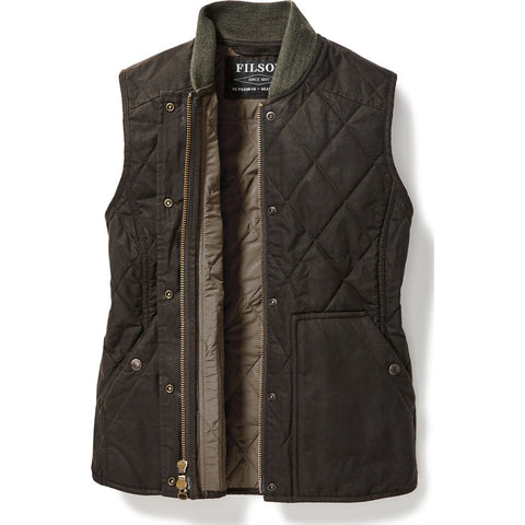Filson Women's Quilted Field Vest XS | Brown 20067997