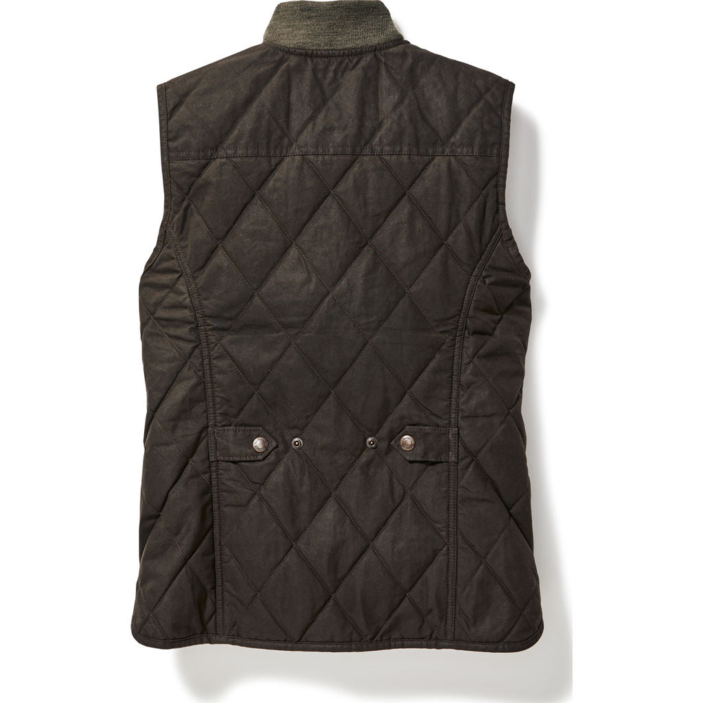 Filson Women's Quilted Field Vest S | Brown 20067997