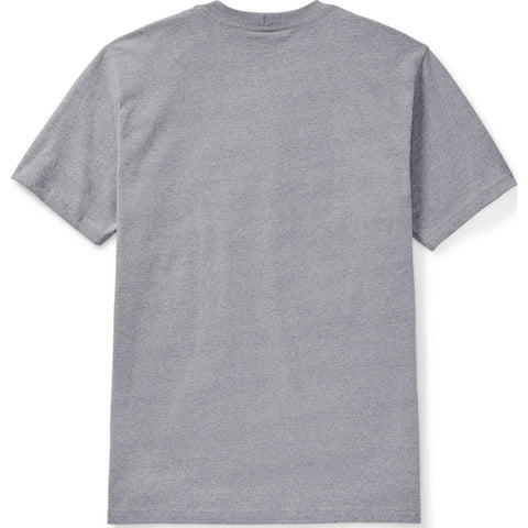 Filson Short Sleeve Outfitter Solid One Pocket T-Shirt | Grey Heather- 20086528--XXL