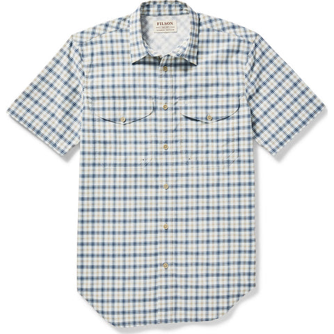 Filson Men's Twin Lakes Short Sleeve Sport Plaid Shirt for Warm Weathe