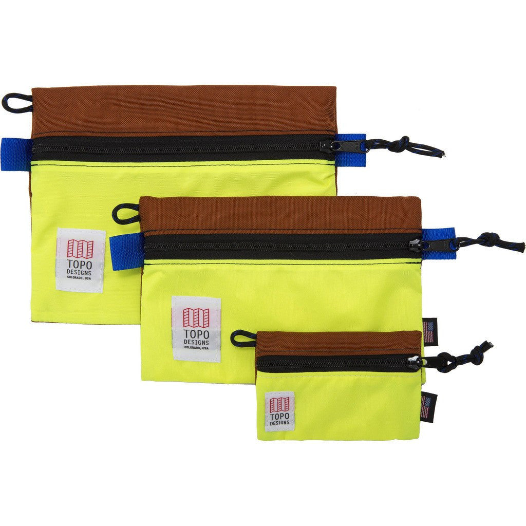 Topo Designs Accessory Bags (Set Of 3) | Clay/Yellow
