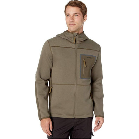 Filson Men's Shuksan Hooded Jacket | Stone Brown/Root
