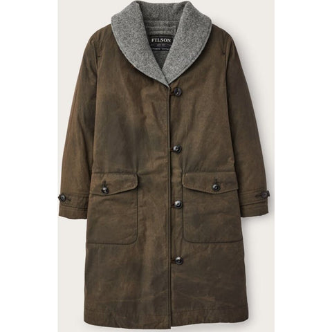 Filson Women's Wool-Lined Trench Coat | Marsh Olive