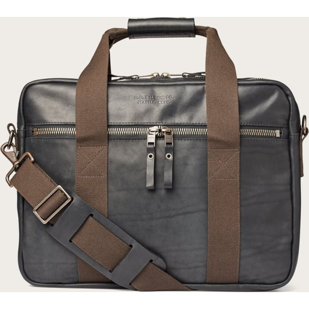 Filson Dawson Leather Briefcase | Black
