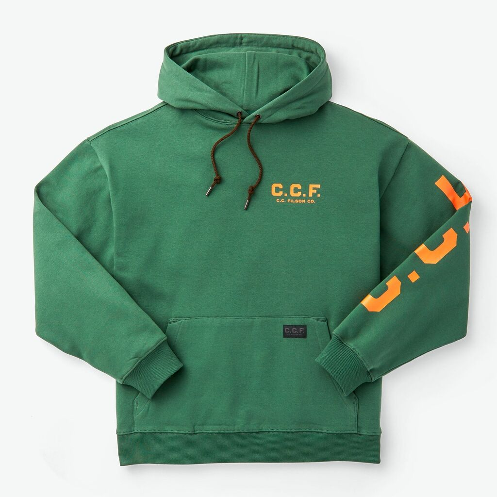 Filson Men's C.C.F. Graphic Pullover Hooded Sweatshirt | Pine Needle