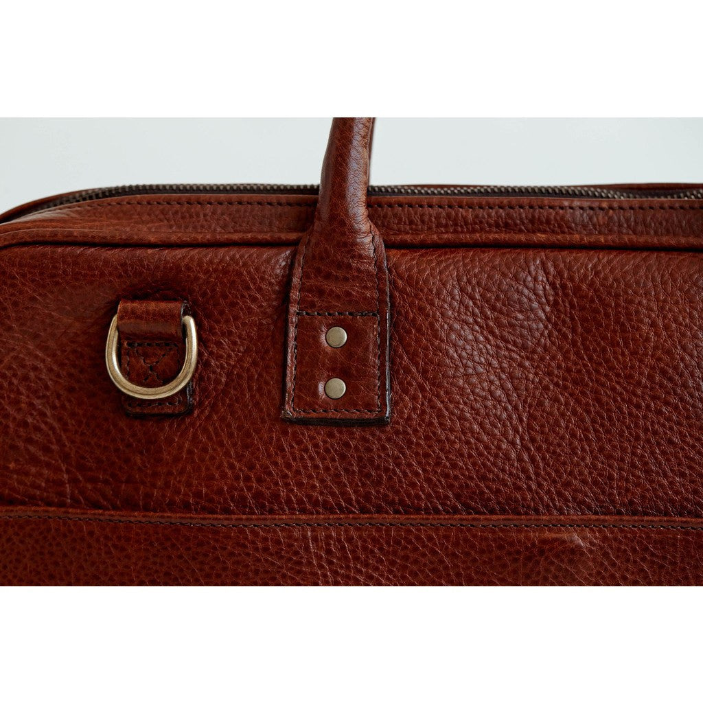 ONA Kingston Leather Briefcase | Walnut