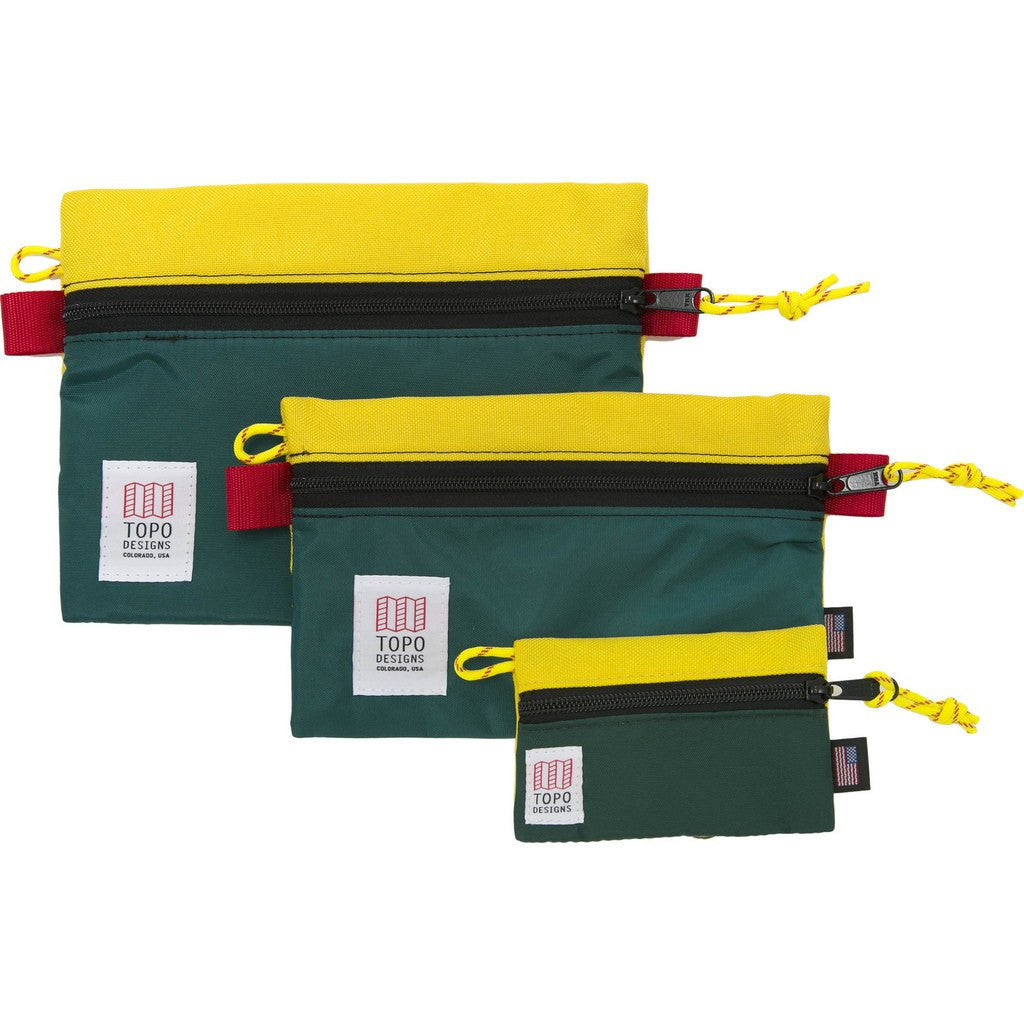 Topo Designs Accessory Bags (Set Of 3) | Sunshine/Forest