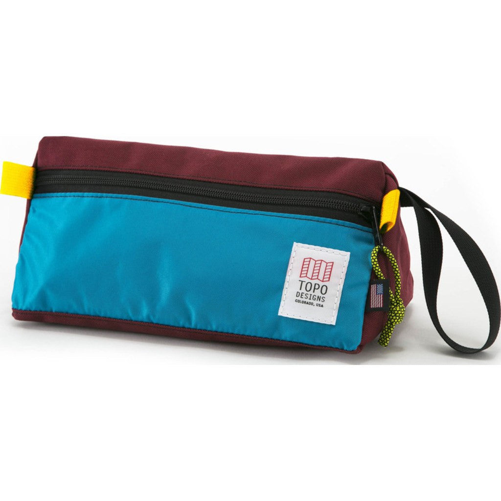 Topo Designs Dopp Kit | Burgundy/Aqua