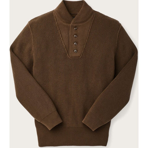 Filson Cotton Henley Guide Sweater | Olive