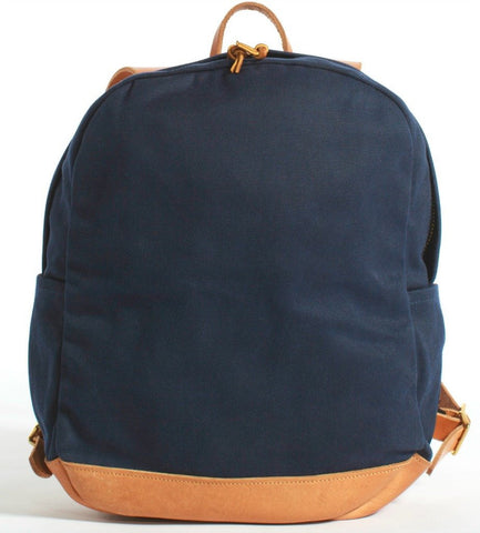 Joshu+Vela Zip Backpack | Navy Wax Twill JV0100-NAVY