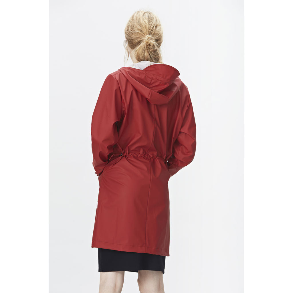 7935141ba05 Rains Women s Waterproof W Coat   Scarlet - Sportique