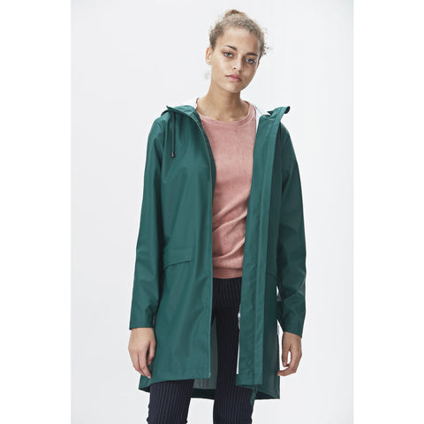 Rains Women's W Coat | Dark Teal