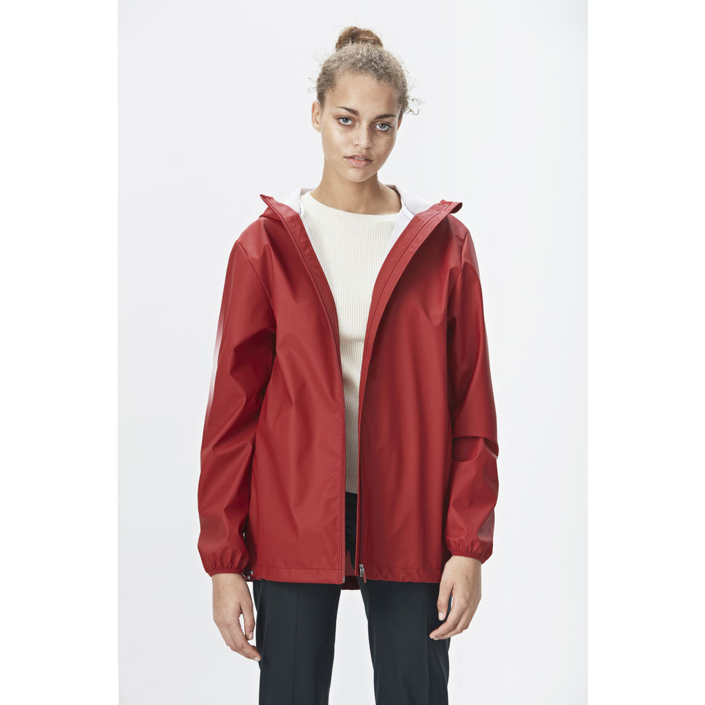 RAINS Waterproof Base Jacket | Scarlet
