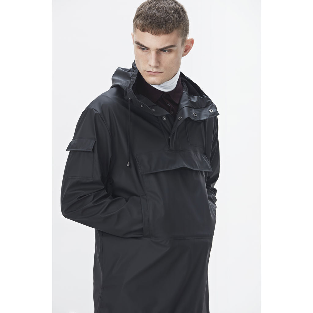 4655adb58 ... RAINS Waterproof Camp Anorak Jacket | Black 1242 ...