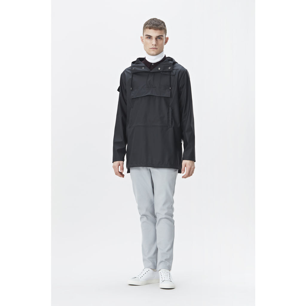 RAINS Waterproof Camp Anorak Jacket | Black 1242