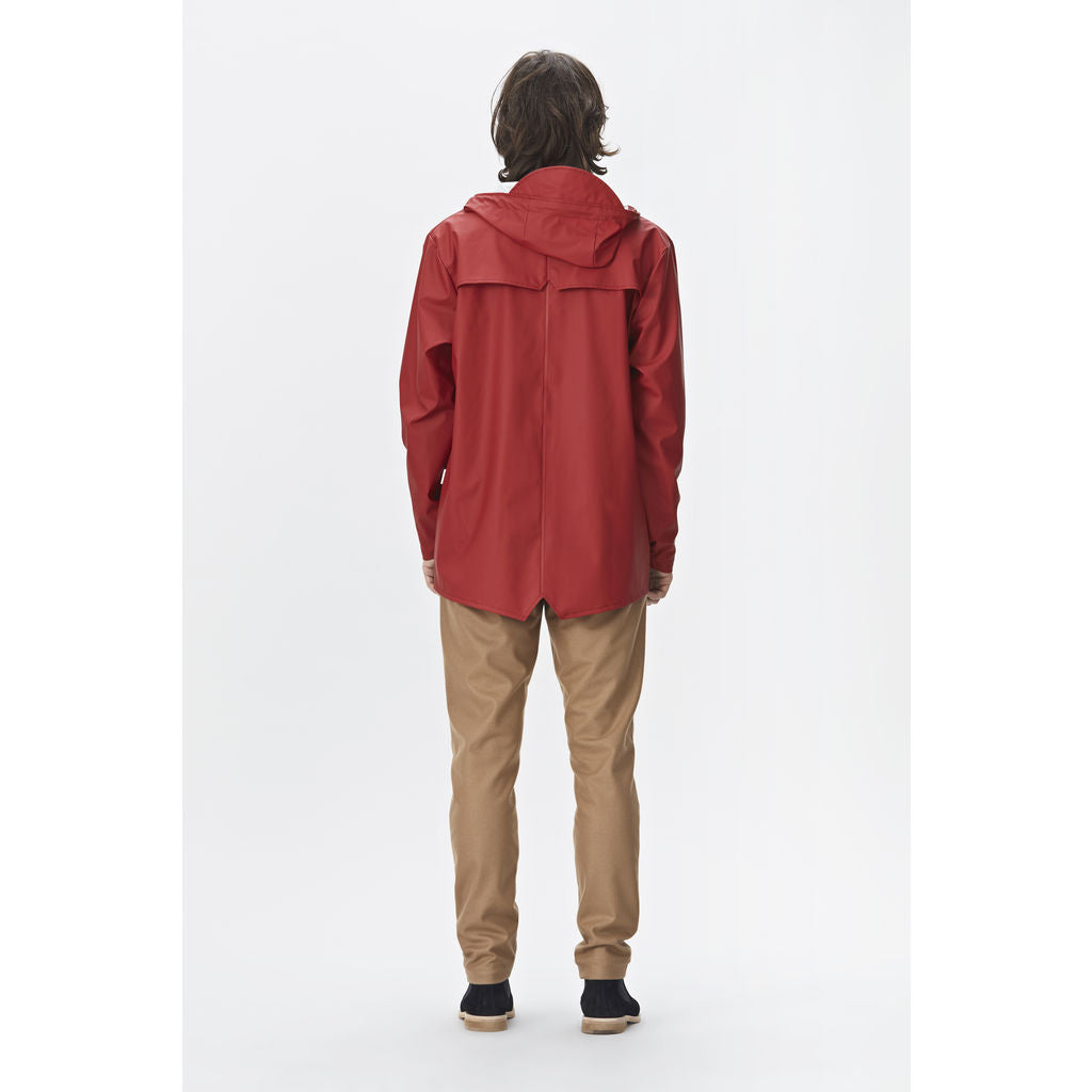 99d34cf5778 Rains Waterproof Jacket Scarlet - Sportique